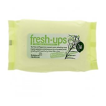 Fresh-Ups Wipes Tea Tree Peppermint 20S