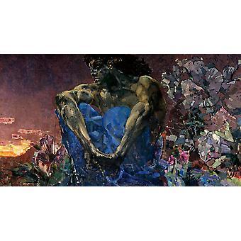 Le démon assis, Mikhail Vrubel, 60x33cm