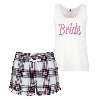 Bride Pink Tartan Pyjamas