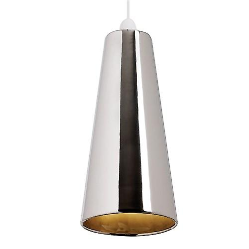Endon NE-PRESTON-CH Non Electric Handmade Chrome Ceramic Pendant Shade