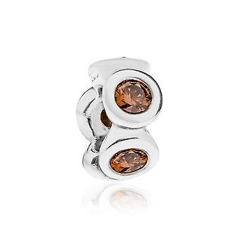 Pandora Lights Silver & Brown CZ Spacer 790226BCZ