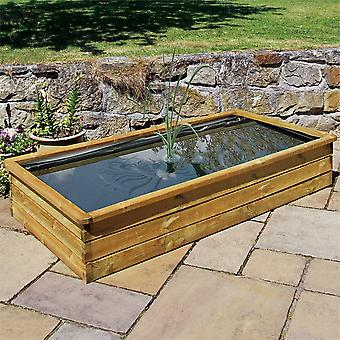 Zest Medium Rectangular Raised Wooden Pond