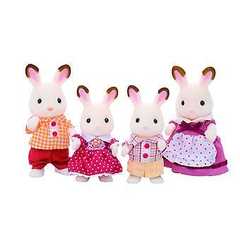 Les familles sylvanian famille de lapin au chocolat