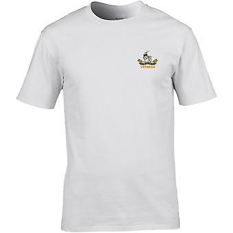 Royal Warwickshire Regiment Veteran - Camiseta Premium bordada del Ejército Británico con Licencia