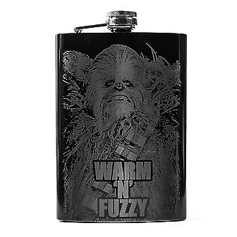 8oz black warm 'n' fuzzy flask l1