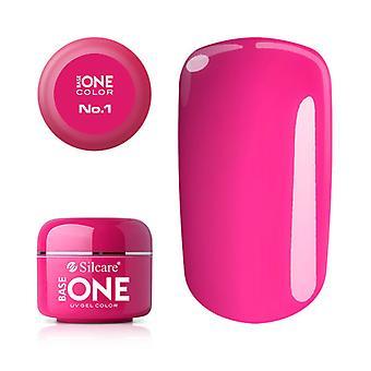 Base one-Color-Pink No. 1 5 g UV-gel