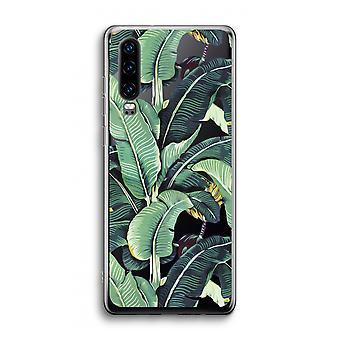 Huawei p30 transparente caso-folhas de banana