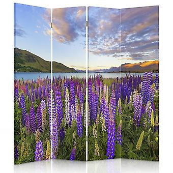 Room Divider, 4 Panels, Double-Sided, Canvas, A Lavender Field