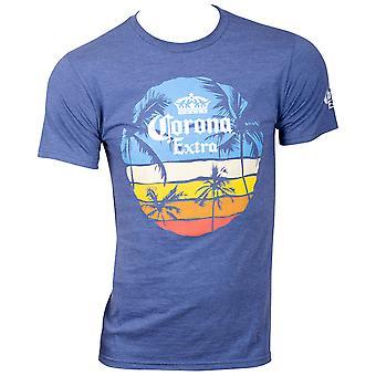 Corona Beer Sunset Men's Blue T-Shirt