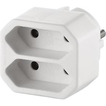 2x Socket splitter GAO 0135 White