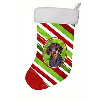 Dachshund Candy Cane Holiday Christmas Christmas Stocking LH9223