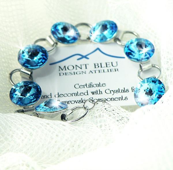 Aquamarine crystals bracelet BMB 2.2