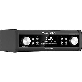 DAB+ Kitchen radio, Radio base component TechniSat DigitRadio 20 AUX, DAB+, FM Black