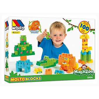 Molto 100 Blocks Magic Zoo In September (Bebes , Jouets , Puzzles Et Casse-Tetes)