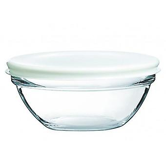 Luminarc 23 Cm Stackable salad bowl with lid (Kitchen , Household , Oven dishs)
