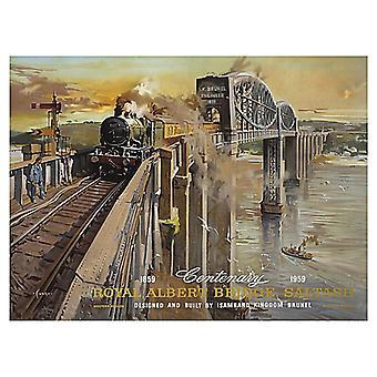 Royal Albert Bridge Saltash large steel sign 400mm x 300mm (ogu)