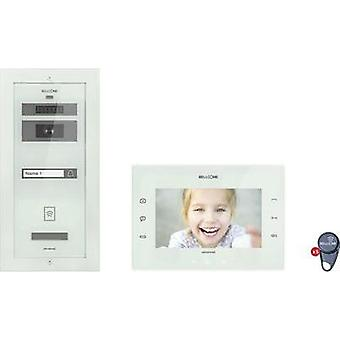 Video door intercom Corded Complete kit Bellcome KIT.VPA.1FR02.BLW Detached White