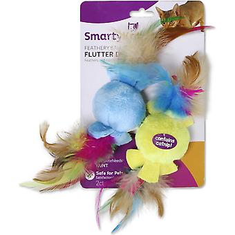 SmartyKat Flutter Drops Ball & Feather 2pk- 9933