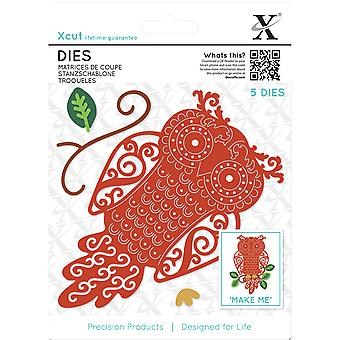 Xcut Decorative Dies 5/Pkg-Filigree Owl XC503430