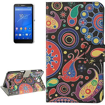 Mobile case bag for mobile phone Sony Xperia E4 color Flash