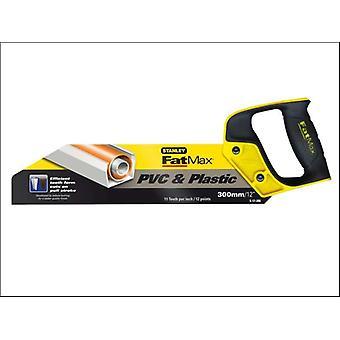 Stanley herramientas FatMax PVC y plástico Sierra 300mm (12 pulg) 11tpi