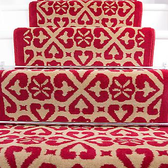 50cm Width - Traditional Moroccan Red Stair Carpet