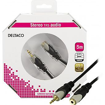 DELTACO, audio cable 3, 5 mm-female, gold plated, 5 m