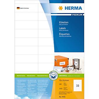 Labels: 70 x 25 Premium white 3300 Herma A4, 4 pcs.