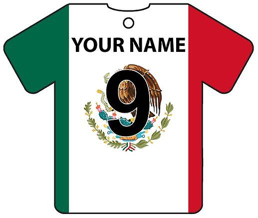 Personalised Mexico Flag Jersey Car Air Freshener