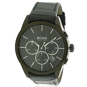 Hugo Boss Leder Chronograph Herrenuhr 1513367