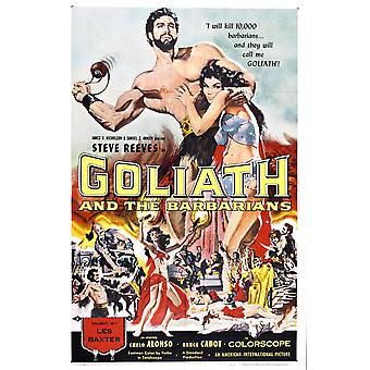 Goliath And Barbarians Poster Print Giclee