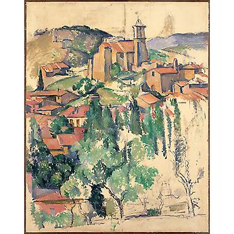 Paul Cezanne - A Small Town Poster Print Giclee
