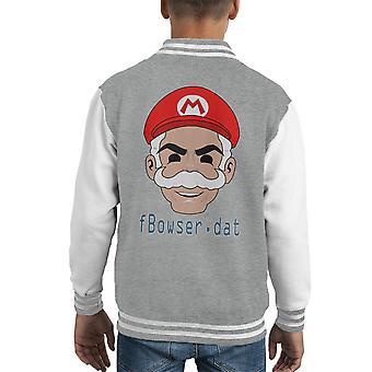 Herr Mario Fsociety Maske Herr Roboter Kid Varsity Jacket