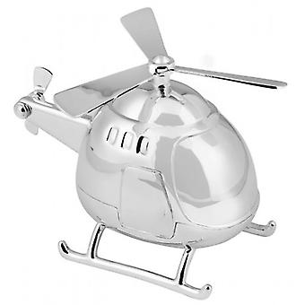 Orton West Helicopter Money Box - Silver