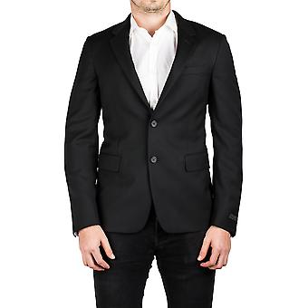 Prada Men's Notched Lapel Cotton Viscose Sport Jacket Coat Blazer Black