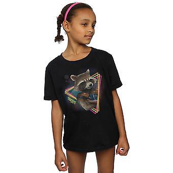 Marvel девочек опекуны галактики неона ракета футболку
