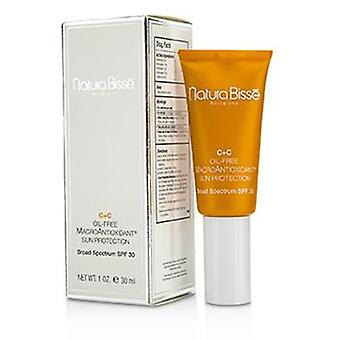 Natura Bisse C+C sin aceite MacroAntioxidant sol Protcetion SPF 30-30ml / 1oz