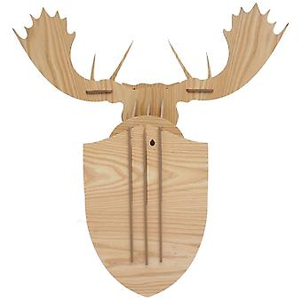 Superstudio Moose wall trophy 3d puzzle  wood