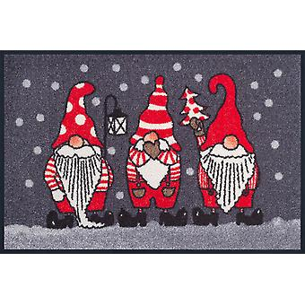 Winter gnomes washable floor mat wash + dry