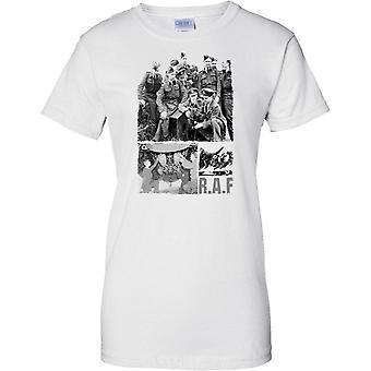 RAF-Foto-Collage-WW2 - Luftschlacht um England inspiriert - Damen-T-Shirt