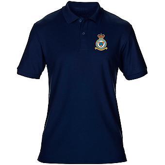 Shawbury RAF Station Embroidered Logo - Official Royal Air Force Mens Polo Shirt