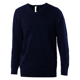 Kariban Mens V-Neck Long Sleeve Jumper / Knitwear