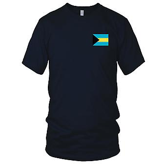 Bahamas Land Nationalflagge - Stickerei Logo - 100 % Baumwolle T-Shirt Kinder T Shirt
