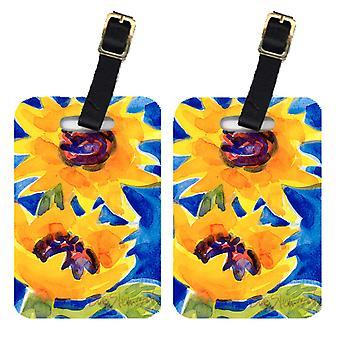 Carolines Treasures  6012BT Pair of 2 Flower - Sunflower  Luggage Tags