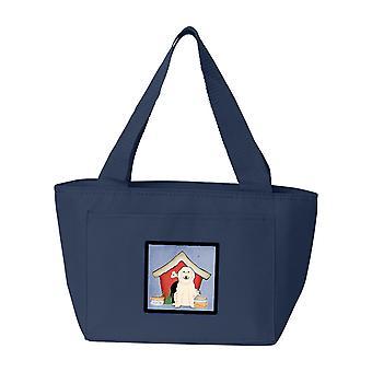 Carolines tesori BB2837NA-8808 cane casa collezione grande Pyrenese Lunch Bag