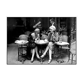 Cafe et Zigarette Paris 1925 Plakat drucken von Roger Viollet (32 x 24)