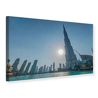 Canvas Print wolkenkrabber het platform Dubai