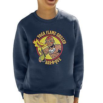 Street Fighter Dhalsim Yoga Flame Grilled BBQ Kid's Sweatshirt