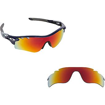 Vented Radarlock Path Replacement Lenses Polarized Red by SEEK fits OAKLEY