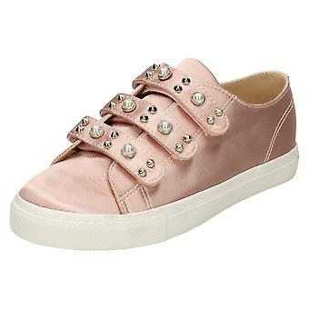 Damen-Spot auf Perle Gurt Trainer - rosa Satin - UK Größe 5 - EU Größe 38 - Größe 7